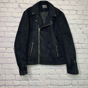 ASOS | Faux Suede Moto Jacket Zip Up | XXL